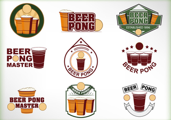 Beer Pong Label vector - vector gratuit #400909