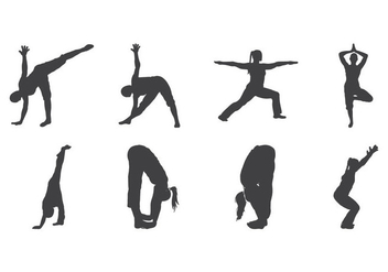 Free Yoga Silhouette Vector - Free vector #400959