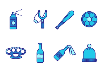 Free Hooligan Object Vector Icons - бесплатный vector #401069