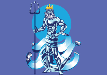 Poseidon Vector Illustration - Kostenloses vector #401119
