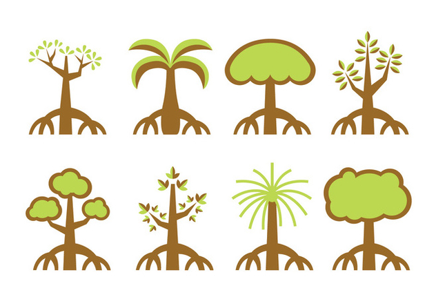 Mangrove trees vector - Free vector #401139