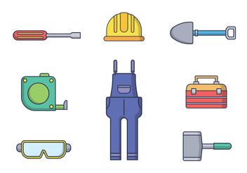 Free Worker Tools Vector - vector #401159 gratis