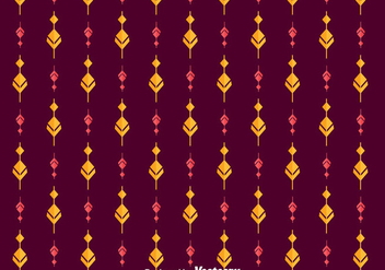 Ethnic Songket Ornament Pattern - vector gratuit #401219