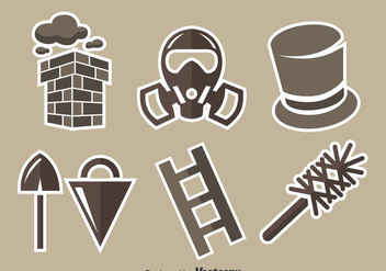 Chimney Sweep Element Vector Set - vector gratuit #401229