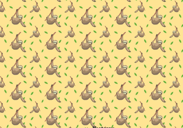 Cute Sloth Seamless Pattern - Kostenloses vector #401269