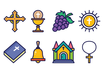 Free Eucharist Icon Set - бесплатный vector #401319