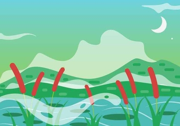 Free Cattails Vector - бесплатный vector #401339
