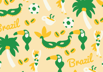 Green & Yellow Brazil Vector - Kostenloses vector #401349