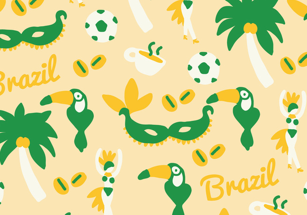 Green & Yellow Brazil Vector - бесплатный vector #401349