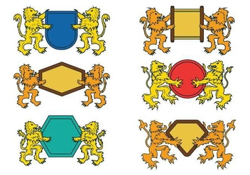 Lion Rampant Vector - Free vector #401379