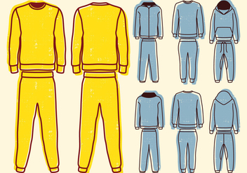 Blank Sweat Suit - vector gratuit #401409