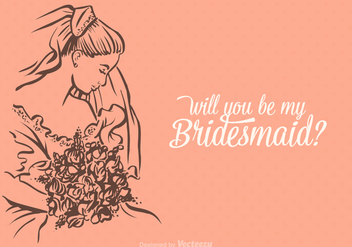 Free Vector Will You Be My Bridesmaid - бесплатный vector #401419
