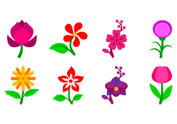 Free Flower Icon Vector - vector gratuit #401479