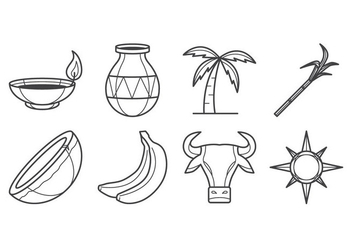 Free Pongal Icon Vector - Free vector #401509