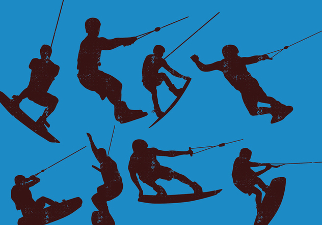 Wakeboarding Silhouette - Free vector #401529