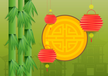 China Town Illustration - vector #401559 gratis