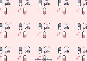 Pills Pattern Vector - vector gratuit #401649