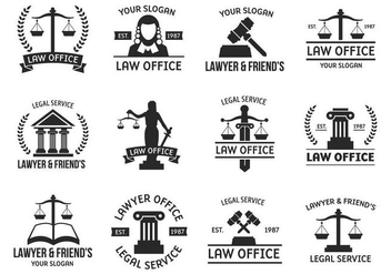 Free Template Logo Law Vector - Free vector #401679