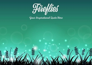 Free Fireflies Background Vector - Free vector #401699