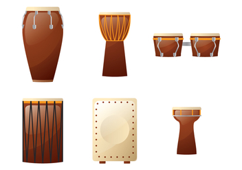 African Drums Illustration - бесплатный vector #401709