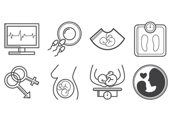 Free Pregnancy Icon Vector - Free vector #401729