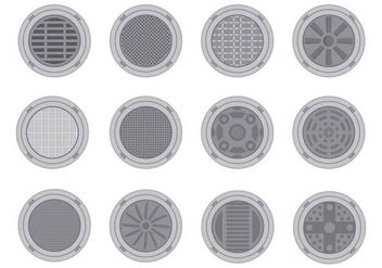 Free Manhole Cover Vector - Kostenloses vector #401759