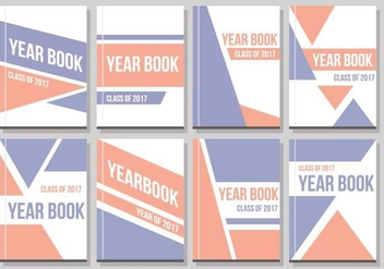 Free Yearbook Layout Vector - vector gratuit #401779
