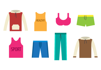 Free Tracksuit Sports Wear Vector - бесплатный vector #401789