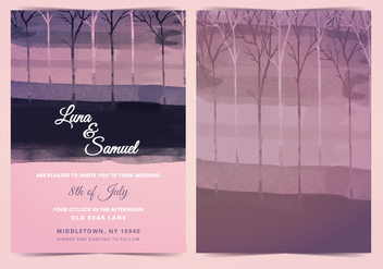 Vector Dark Forest Wedding Invite - Free vector #401879