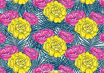 Colorful Flowers Background - vector #401909 gratis