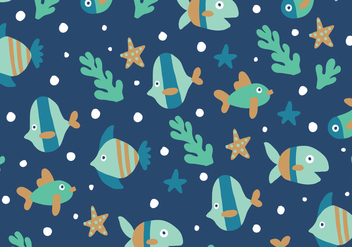 Fishes Pattern - vector gratuit #401969