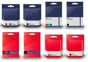 Vector Ink Cartridge box template - vector #401979 gratis