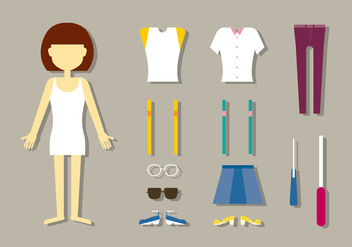 Women's Fashion Doll Vectors - Free vector #402019