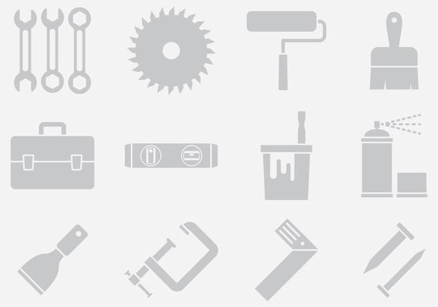 Gray Tool Icons - Kostenloses vector #402029