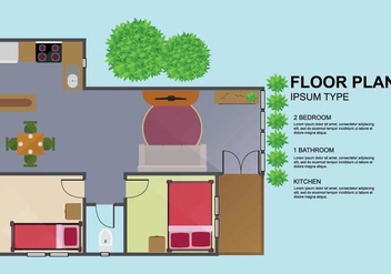 Free Floorplan Illustration - Kostenloses vector #402069