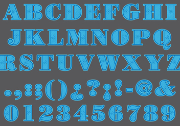 Blue Laser Cut Type - vector #402119 gratis