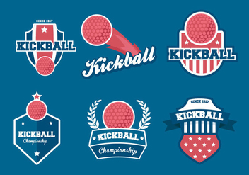 Kickball Vector Badges - Free vector #402149