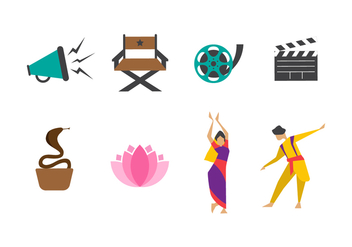 Free Bollywood Vector Icons - Free vector #402169