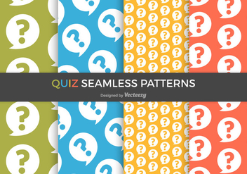 Free Quiz Vector Seamless Patterns - Kostenloses vector #402189
