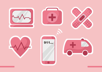 CPR Vector Icons - бесплатный vector #402249