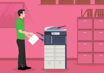 Free Photocopier Illustration - vector gratuit #402279