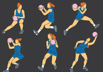 Free Netball Icons Vector - Kostenloses vector #402469