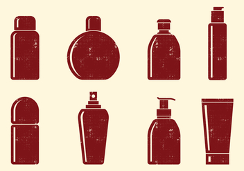 Cosmetics Bottle Icons - Free vector #402489