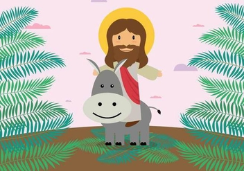 Free Palm Sunday Illustration - Free vector #402529