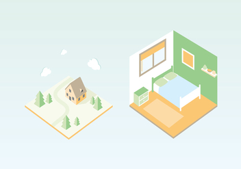 Vector House Illustration - Free vector #402549