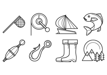 Free Fishing Icon Vector - Kostenloses vector #402639