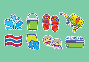 Songkran Icons - Free vector #402679