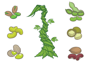 Free Beanstalk Icons Vector - Free vector #402719