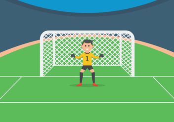 Goal Keeper Illustration - Free vector #402739