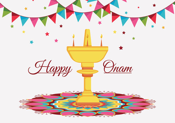 Happy Onam - vector #402779 gratis